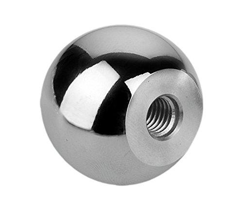 Kipp 06247-140103 Aluminum Ball Knob with Tapped Hole, M10 Thread, Polished Finish, Style C, Metric, 40 mm Diameter