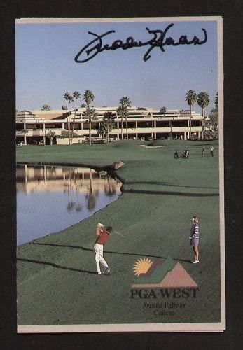 Freddie Haas signed autograph auto PGA West Scorecard