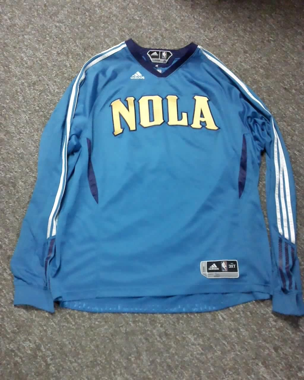 Quincy Pondexter New Orleans Hornets 2010-2011 Game Worn Adidas Shooting Shirt