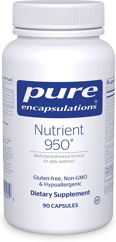 Pure Encapsulations - Nutrient 950 - Hypoallergenic Multi-Vitamin/Mineral Formula for Optimal Health - 90 Capsules