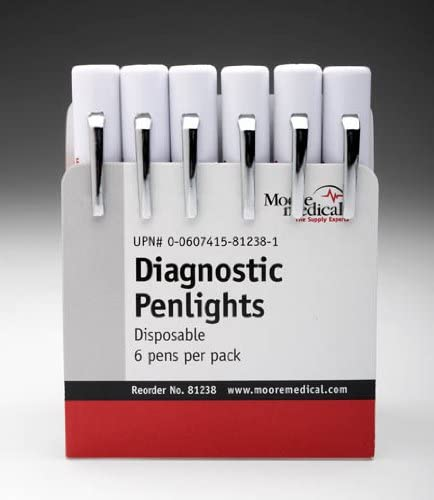 Moore Medical Disposable Penlights - Pkg of 6