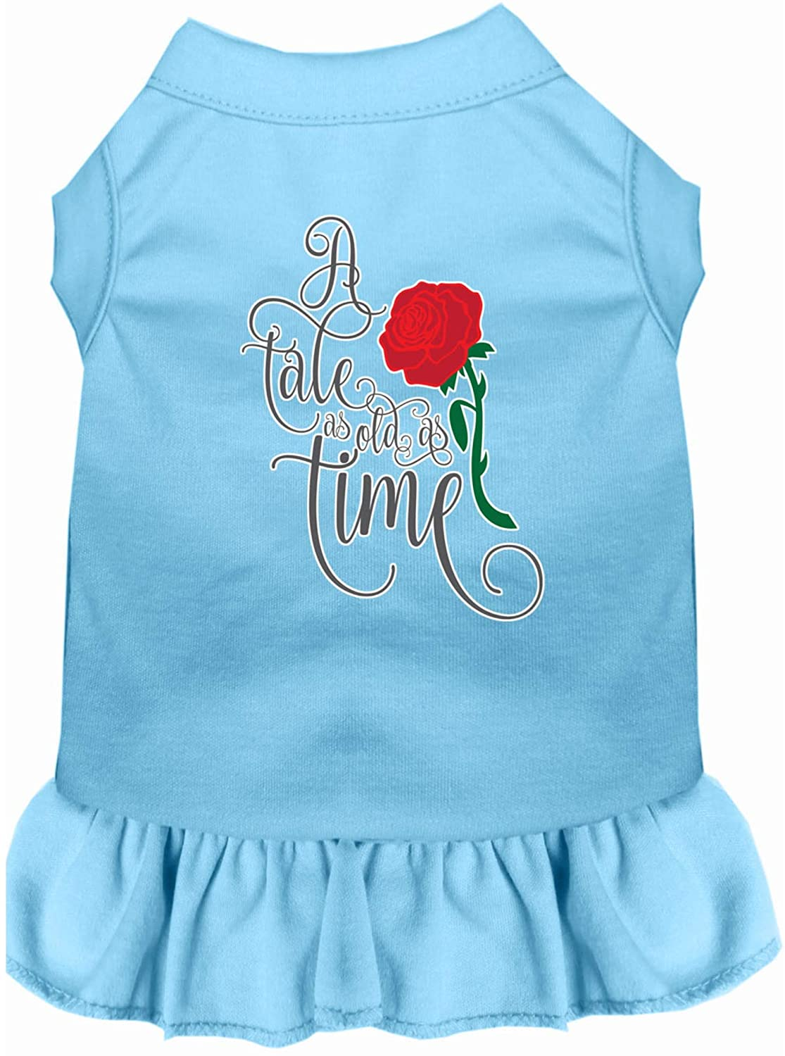 Mirage Pet Product Timeless Tale Screen Print Dog Dress Baby Blue Lg