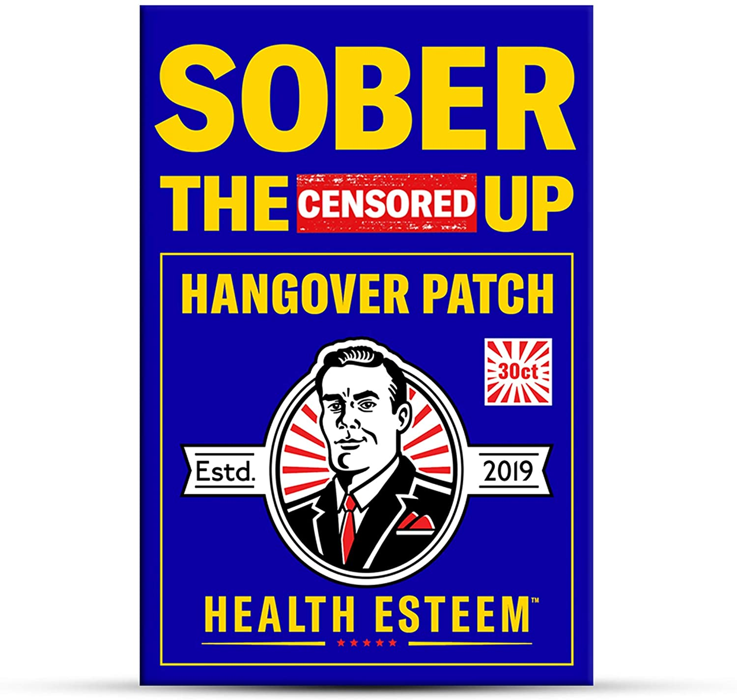 Hangover Patch for Hangover Cure & Hangover Prevention (30 Hangover Patches)   Hangover Kit Supplies Alternative to Hangover Pills & Hangover Drinks   Sober The (Censored) Up by Health Esteem