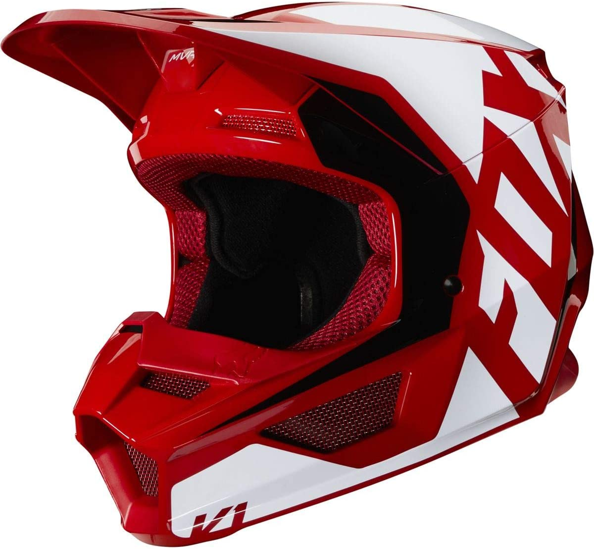 Fox Racing Prix Youth V1 Off-Road Motorcycle Helmet - Flame Red/Large