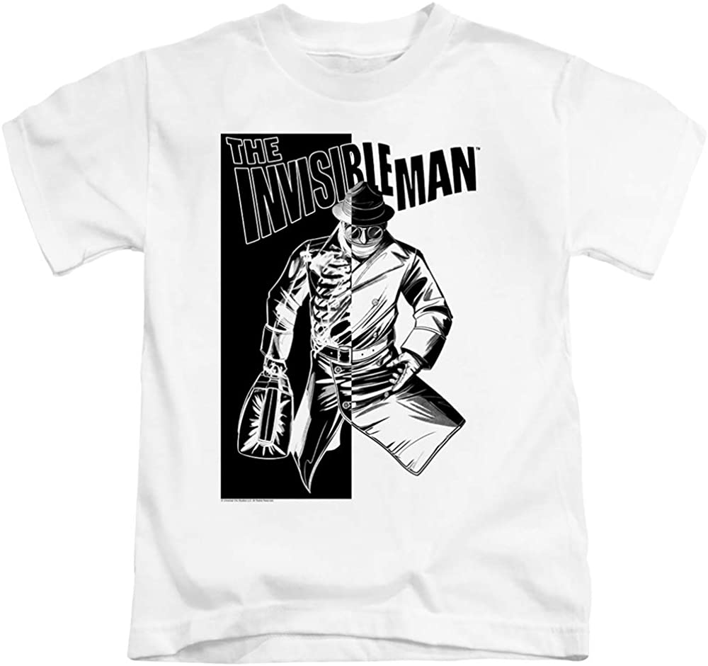 A&E Designs The Invisible Man Boys T-Shirt Briefcase White Tee