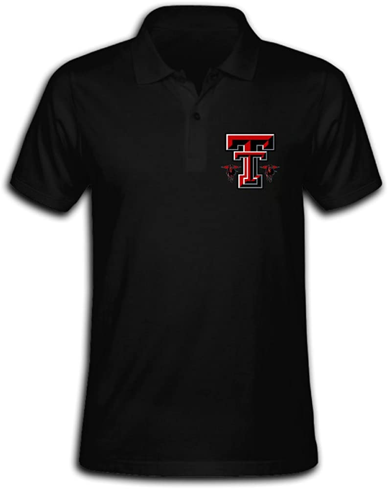 Men's Texas Tech Red Raiders Solid Short Sleeve Pique Polo Shirt