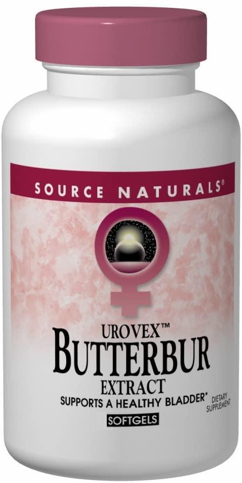 Source Naturals Butterbur (Eternal Woman) 50mg, Supports a Healthy Bladder, 60 Softgels