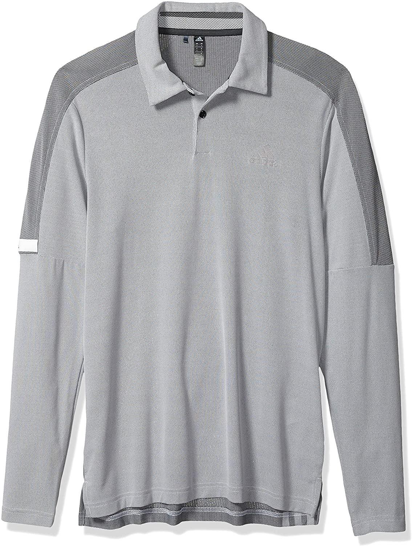 adidas Mens Sport Long Sleeve Polo Shirt