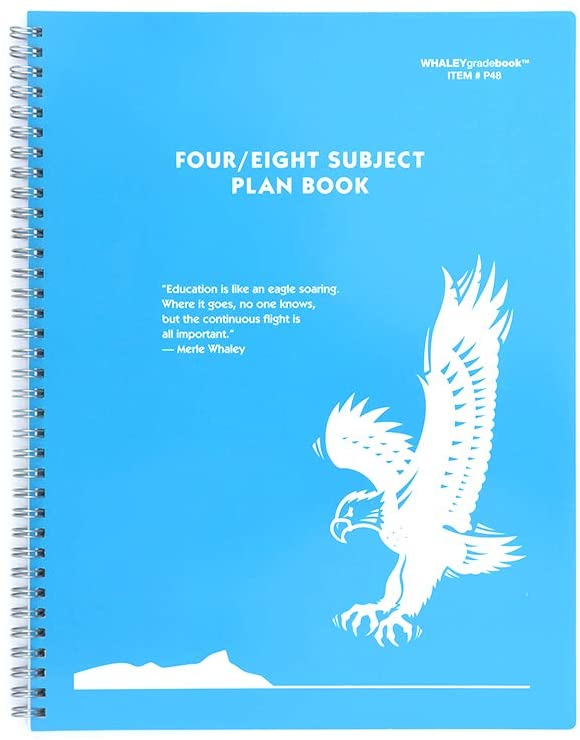 Whaley Planbook (9 x 12 inches) 4/8-Subject Book For Lesson Plans, Attendance And Seating Chart, 40 Weeks (P48)