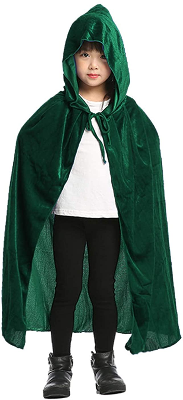 ALIZIWAY Kids Hooded Cloak Cape for Halloween Christmas Cosplay Costumes Y004GS