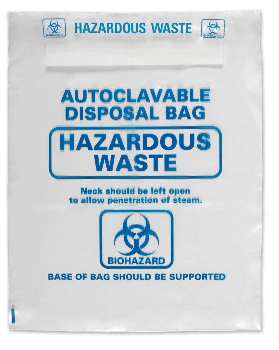 Heathrow Scientific HS1002A Autoclavable Bag, Polypropylene, Disposable, 12.20