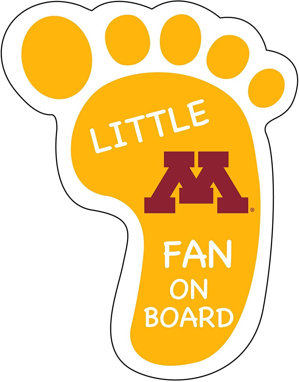 Minnesota Gophers Little Fan ON Board Magnet-University of Minnesota Footprint Magnet