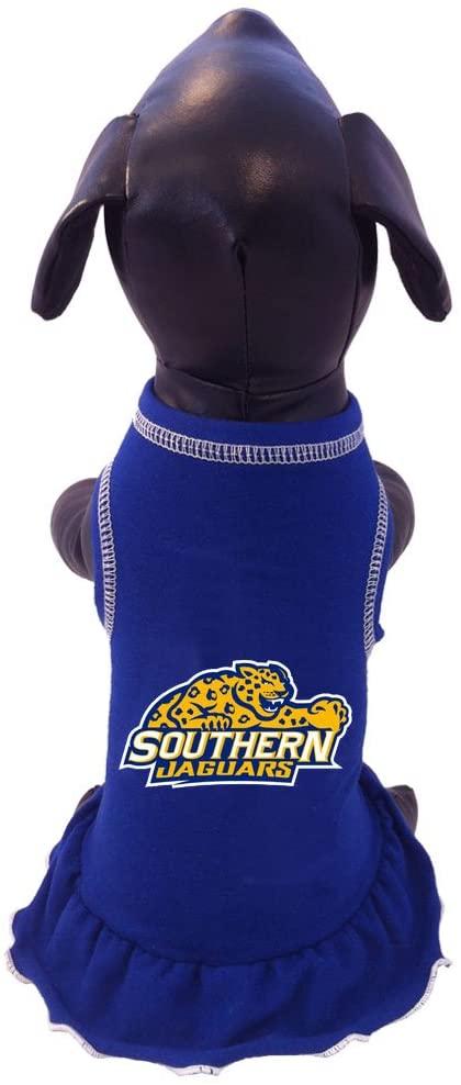 NCAA Southern Jaguars Cheerleader Dog Dress, Tiny