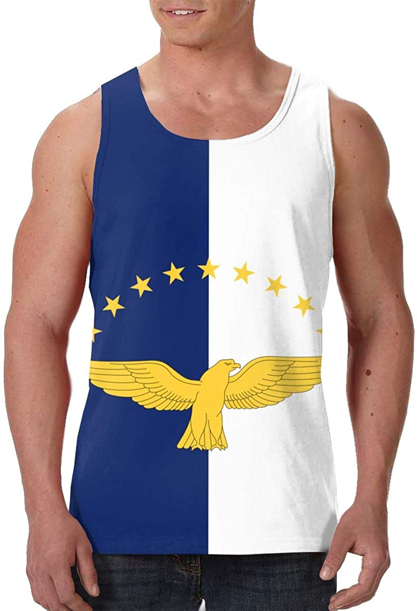 The Azores Flag Men's Tank Top T-Shirt Retro Sleeveless Vest
