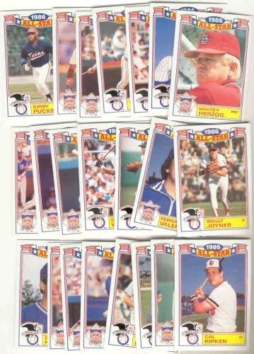 1987 Topps Glossy All Stars Baseball Card Set