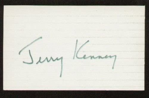 Jerry Kenney signed autographed 3x5 index card E1141
