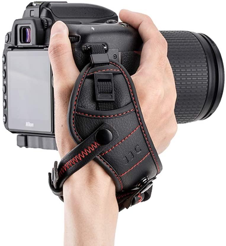 Camera Hand Grip Strap JJC DSLR Wrist Strap for Canon 7D 6D 5D 5Ds 5Ds R 1Dx T7 T6 T5 T3 T7i T6s T6i T5i SL2 SL1 80D 77D Nikon D5 D4s D4 D850 D810 D3500 D3400 D7500 D7200 D5600 D5500,etc -Red