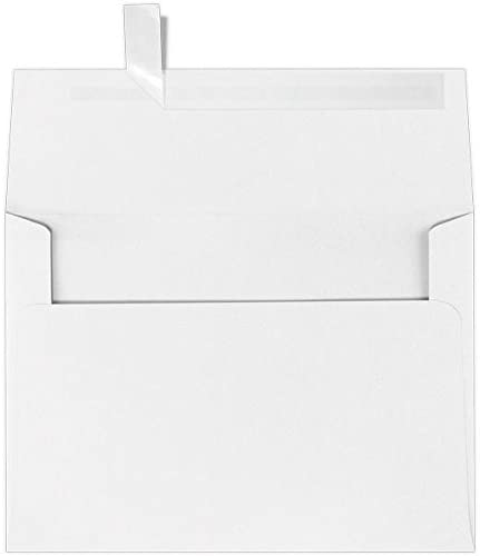 LUXPaper A9 Invitation Envelopes in 60 lb. White for 5 1/2 x 8 1/2 Cards, Printable Envelopes for Invitations, with Peel and Press, 50 Pack, Envelope Size 5 3/4 x 8 3/4 (White)