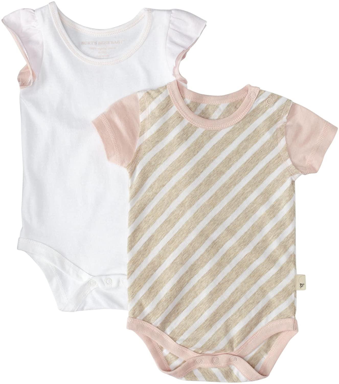 Burt's Bees Baby Diagonal Stripe Bodysuit Set (Baby) - Cloud-0-3 Months