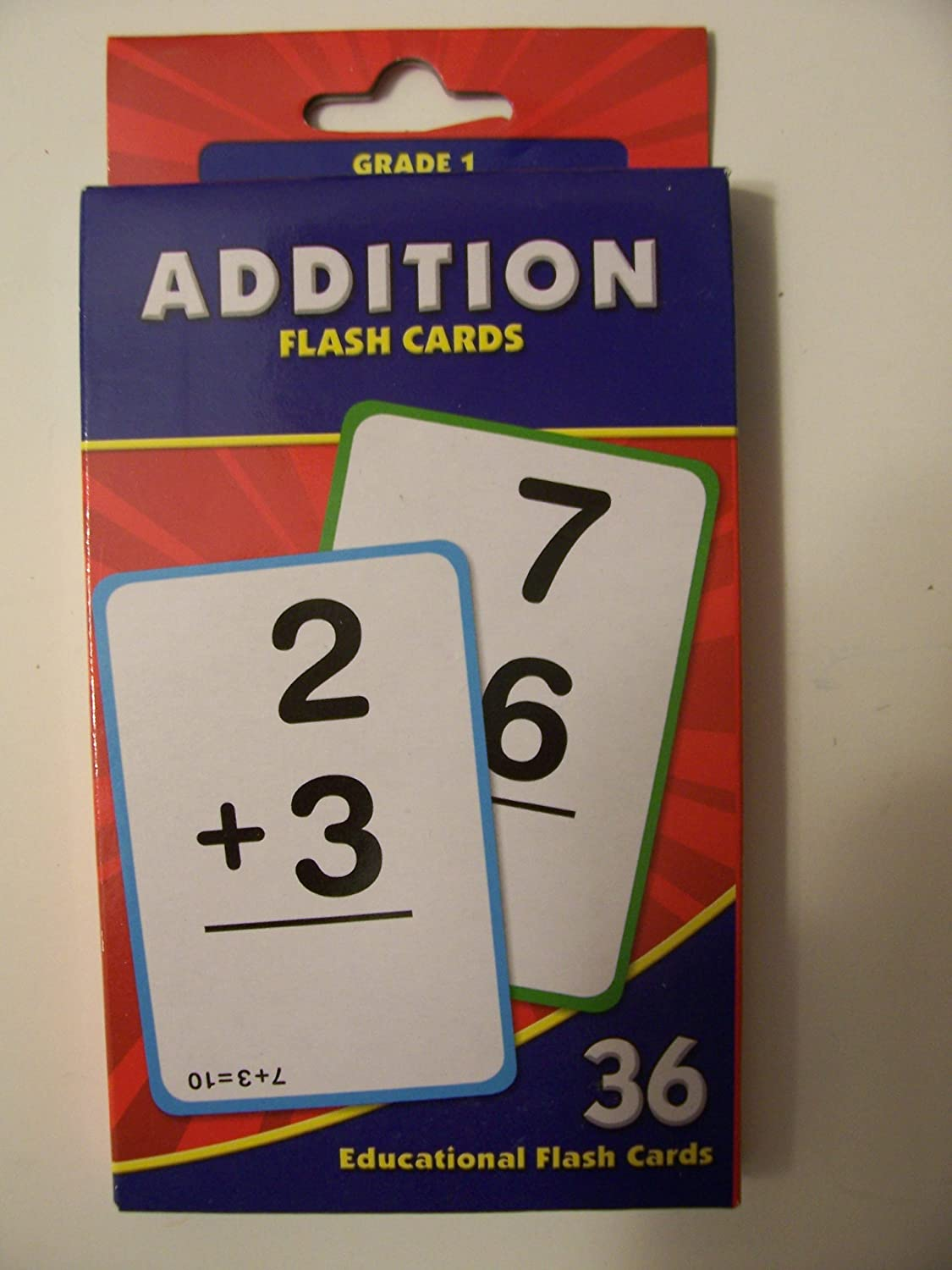 Educational Flash Cards ~ Addition (36 Flash Cards; Grade 1)