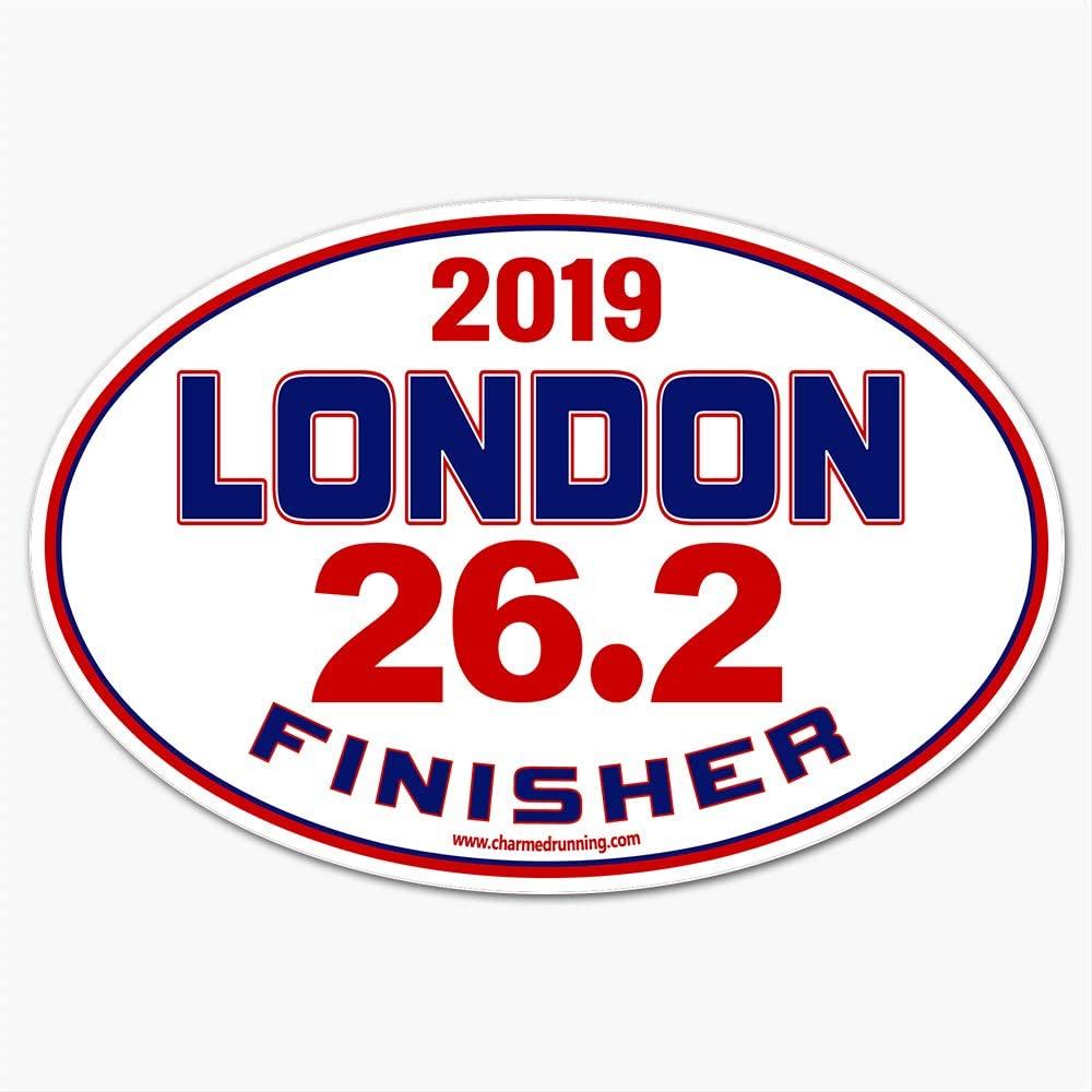 Charmed Running London UK England Marathon Finisher 26.2 Distance 2019 Car Magnet