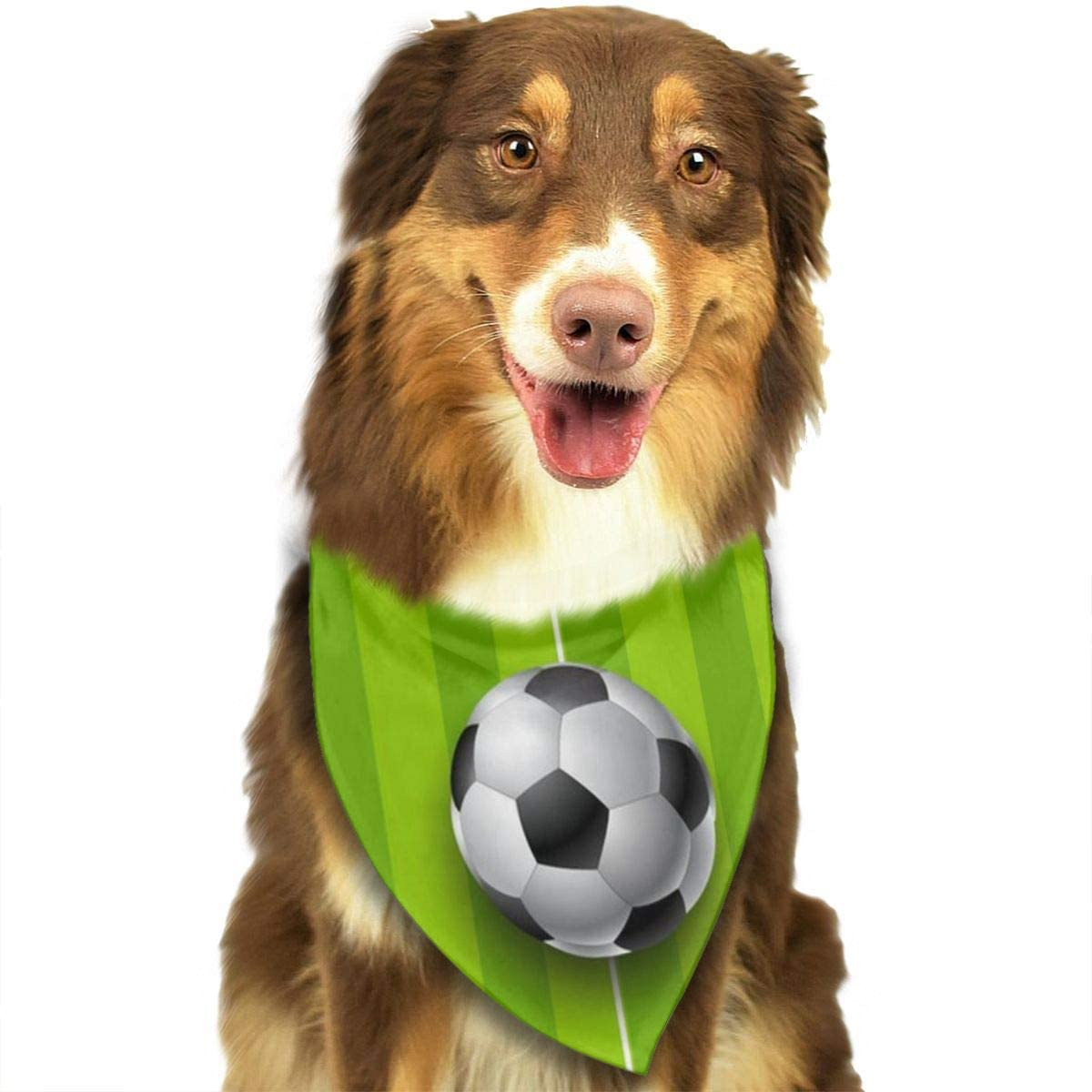 Chion Football Field with Ball Triangle Neckerchief Puppy for Pet Dogs