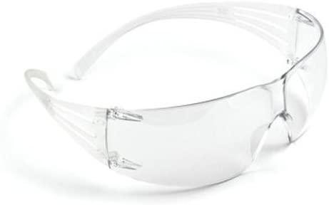 3M SF201AF Protective Eyewear, Anti-Fog Lens, 20/Case, Clear