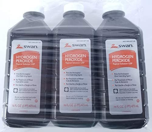 Hydrogen Peroxide Topical Solution USP 3%, 16 Ounce Bottles (3 Pack)