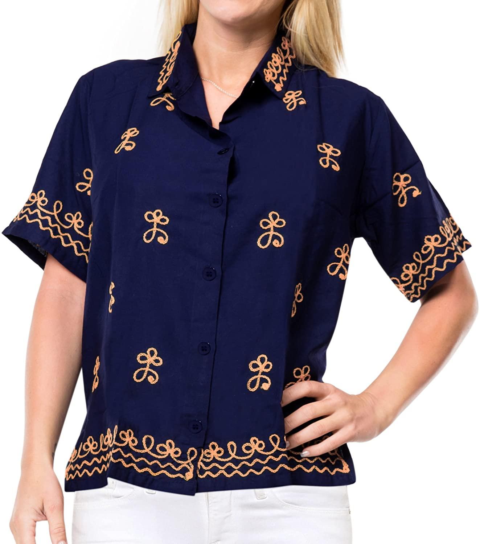 Women Hawaiian Shirt Beach Top Blouses Casual Aloha Boho Holiday Tank Boyfriend