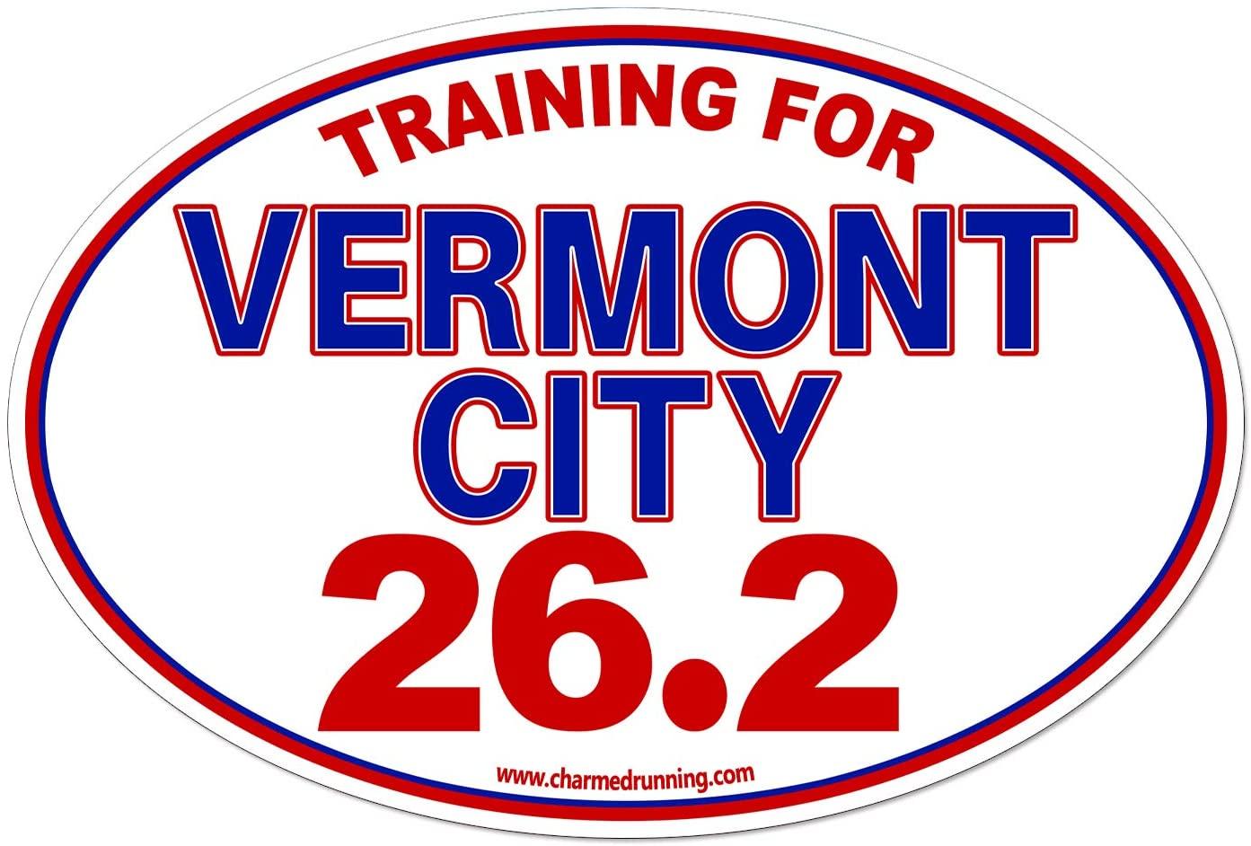 Charmed Running Training For Vermont City Marathon 26.2 Car Magnet