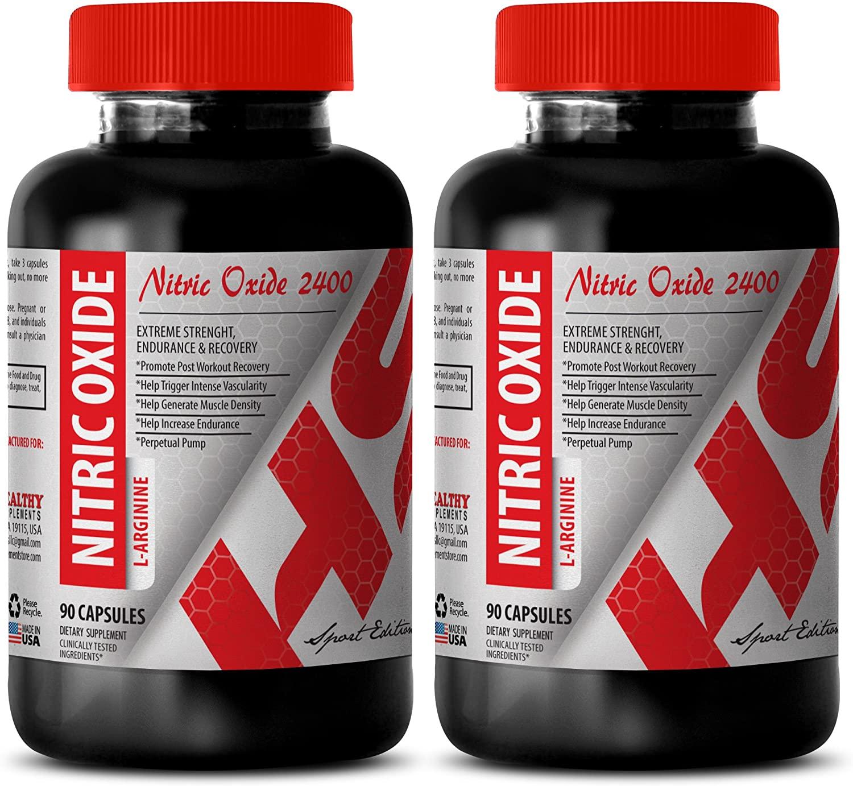Nitric oxide bulk supplements - NITRIC OXIDE L-ARGININE 2400MG - improve in sex drive (2 Bottles)