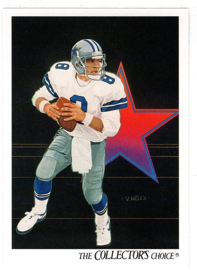 Troy Aikman - Dallas Cowboys - Team Checklist (Football Card) 1991 Upper Deck # 82 Mint