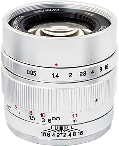 ZHONG YI OPTICS Mitakon Zhongyi Speedmaster 35mm f/0.95 Mark II Lens for Canon EOS-M Mirrorless Cameras - Silver