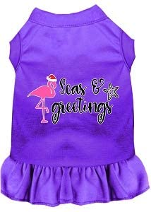 Mirage Pet Product Seas and Greetings Screen Print Dog Dress Purple Sm