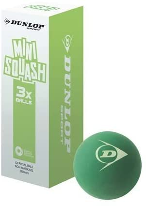 New Dunlop Composition Mini Squash Ball Juniors Soft Grip Green Balls by Dunlop