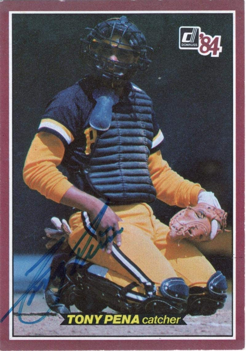 1984 DONRUSS TONY PENA PIRATES #3 SIGNED AUTOGRAPHED W/COA