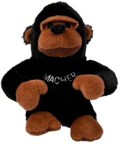 Plush Macher the Mountain Gorilla Chewish Squeak Treat Toy