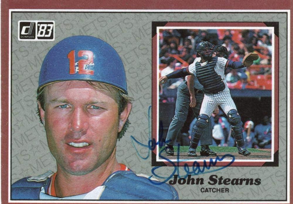 1983 DONRUSS JOHN STEARNS METS #25 SIGNED AUTOGRAPHED W/COA