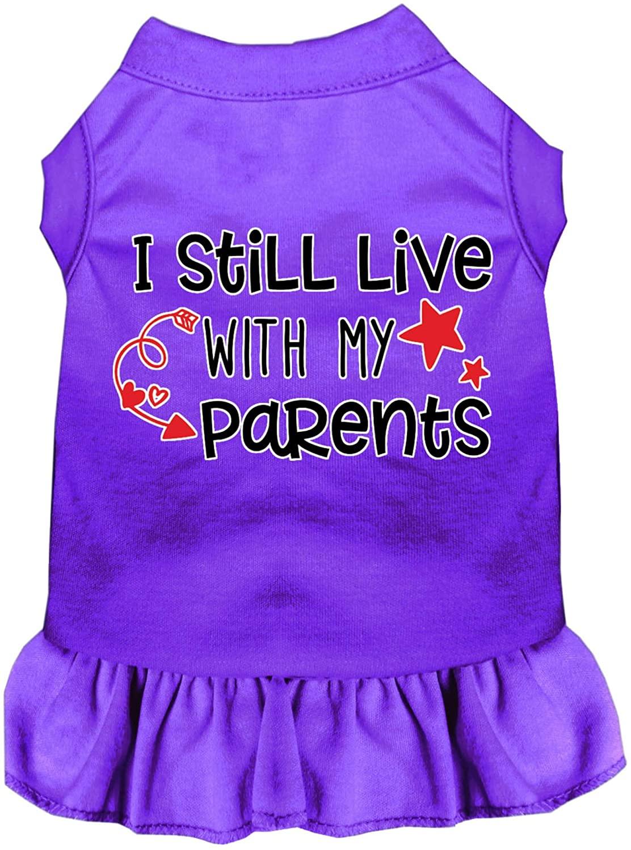 Mirage Pet Product Still Live with My Parents Screen Print Dog Dress Purple XXXL (20)