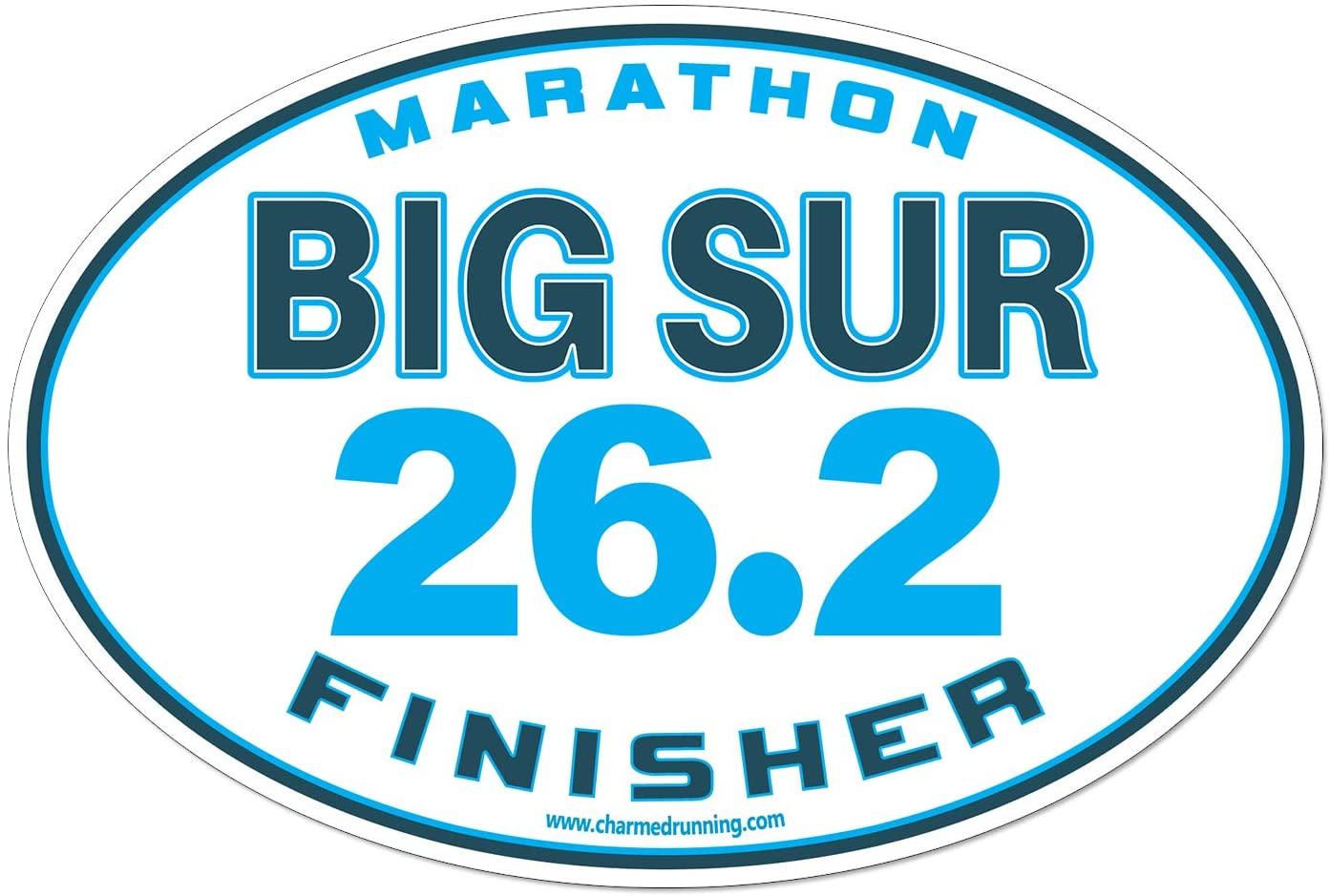 Charmed Running Big Sur Marathon Finisher 26.2 Car Magnet