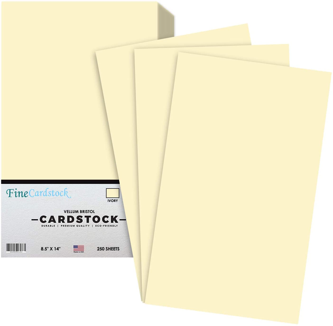 Ivory Menu Legal Size 8.5 x 14 Inches 67 Vellum Bristol Lightweight Card Stock Paper Cover | 1 Ream of 250 Sheets Per Pack