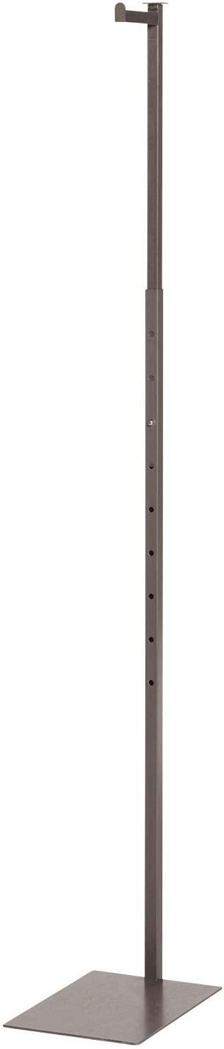 SSWBasics Boutique Raw Steel Adjustable Single Costumer - Adjustable from 48