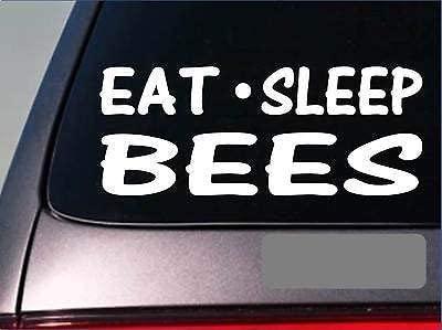 Eat Sleep Bees Sticker 8' Vinyl Honeybee Beekeeping Honey Smoker