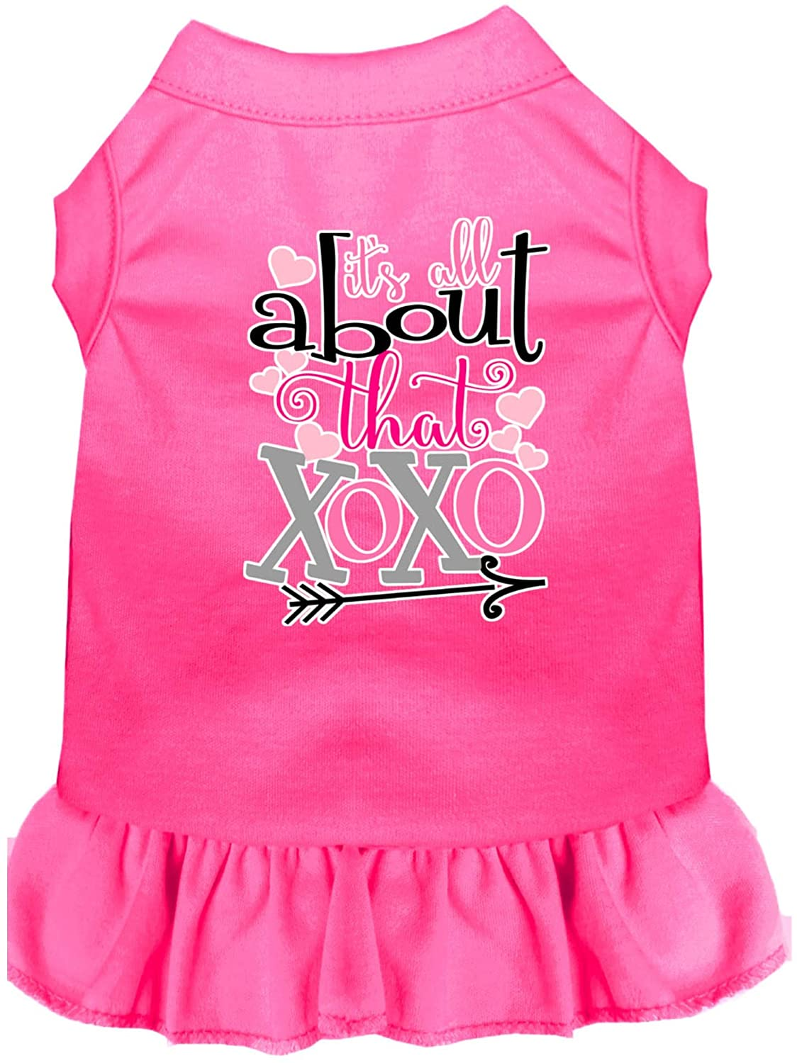 Mirage Pet Product All About The XOXO Screen Print Dog Dress Bright Pink XXXL