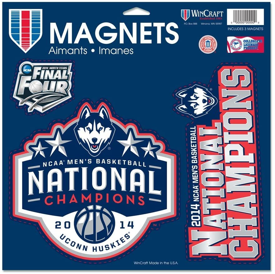 WinCraft Connecticut Huskies Official NCAA 11 inch x 11 inch Car Magnet by 692825