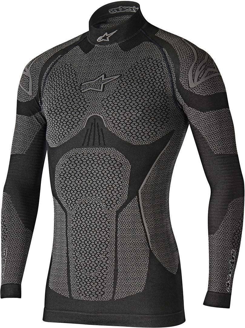 Alpinestars Men's Ride Tech Winter Long Sleeve Underwear Motorcycle Riding Top, Black/Gray, X-Small/Small