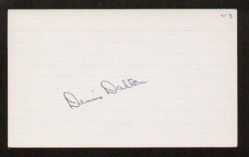Dennis Dalton signed autographed 3x5 index card B1459