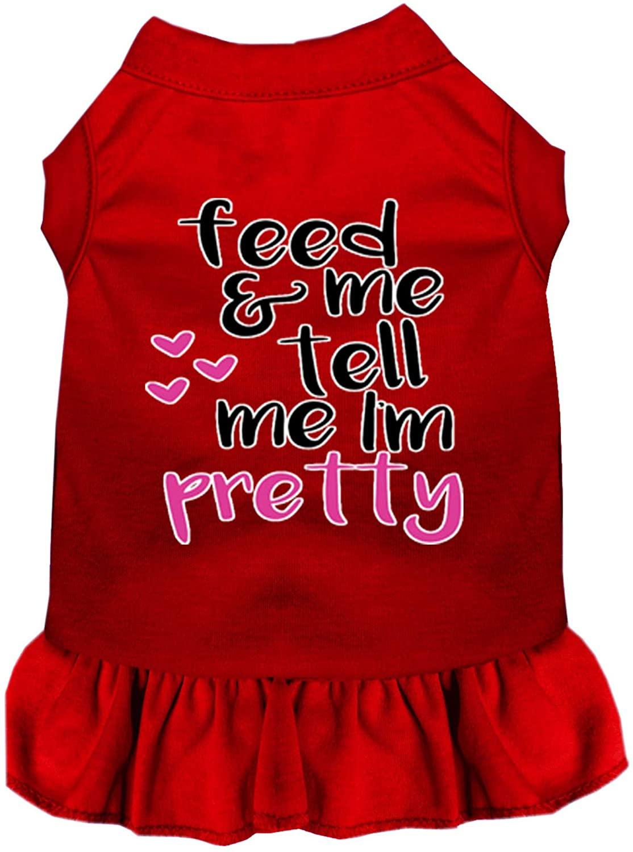 Mirage Pet Product Tell me I'm Pretty Screen Print Dog Dress Red XXL (18)