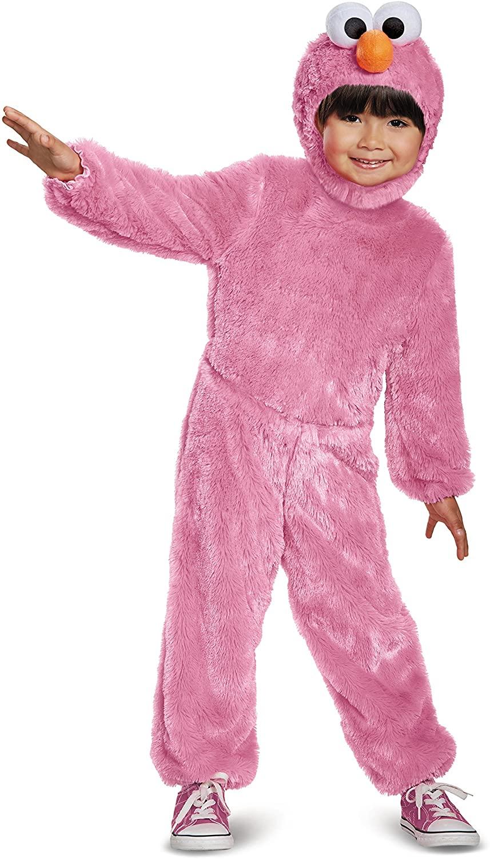 Elmo Comfy Fur Costume, Pink, 12-18 Months
