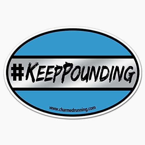 Charmed Running NFL Carolina Panthers #KeepPounding Car Magnet